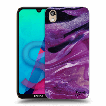 Etui na Honor 8S - Purple glitter