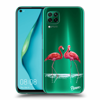 Etui na Huawei P40 Lite - Flamingos couple
