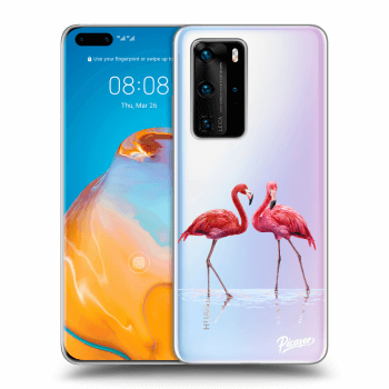 Etui na Huawei P40 Pro - Flamingos couple
