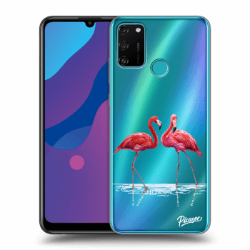 Etui na Honor 9A - Flamingos couple