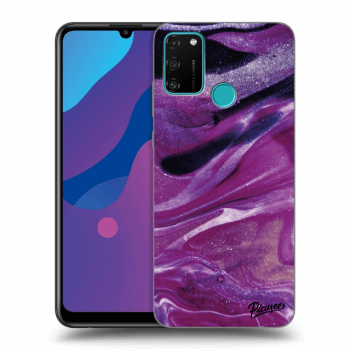 Etui na Honor 9A - Purple glitter