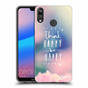 Etui na Huawei P20 Lite - Think happy be happy