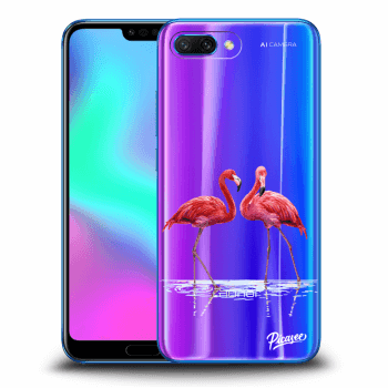 Etui na Honor 10 - Flamingos couple