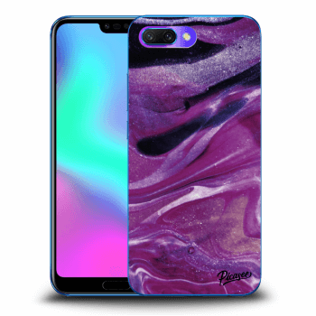Etui na Honor 10 - Purple glitter