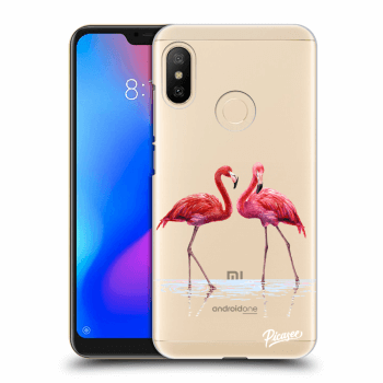 Etui na Xiaomi Mi A2 Lite - Flamingos couple