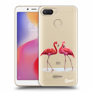 Etui na Xiaomi Redmi 6 - Flamingos couple