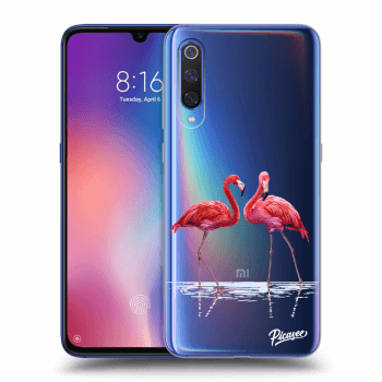 Etui na Xiaomi Mi 9 - Flamingos couple